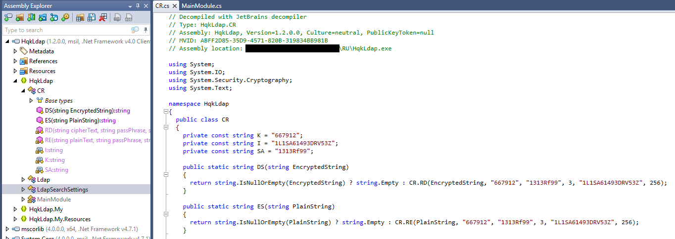 Decompiling into .NET code